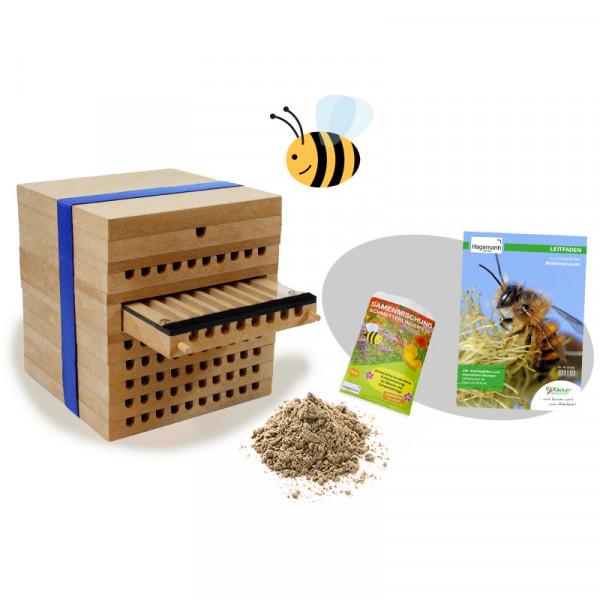 Hagemann Zuchtset Wildbienen (mit 50 Kokons)