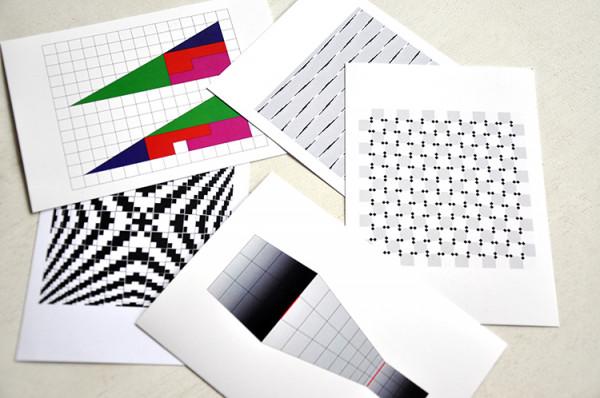Postkartenset optische Illusionen