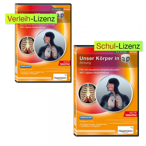 Didaktische DVD Unser Körper in 3D - Atmung (tabletfähig)