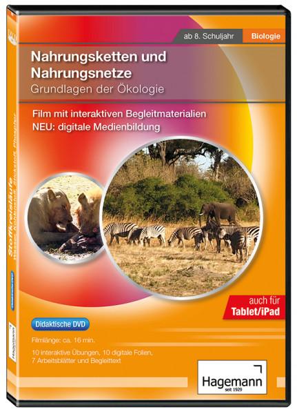 Didaktische DVD Nahrungsketten und Nahrungsnetze - Grundlagen der Ökologie (tabletfähig)