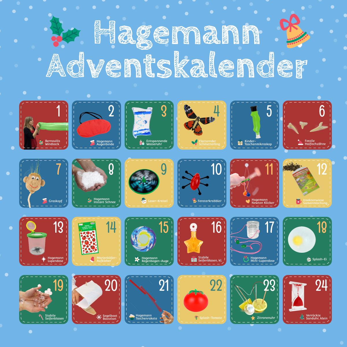 Inhalt Hagemann Adventskalender 2020