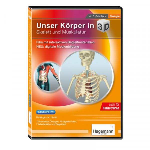 Didaktische DVD Unser Körper in 3D - Skelett und Muskulatur (tabletfähig)