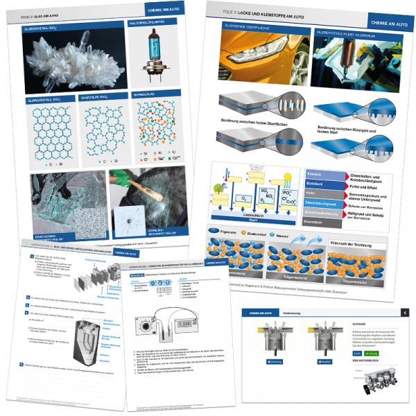 Unterrichts-Material, Medienpaket, Chemie am Auto