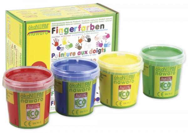 Set Fingerfarben nawaro, 4-tlg.