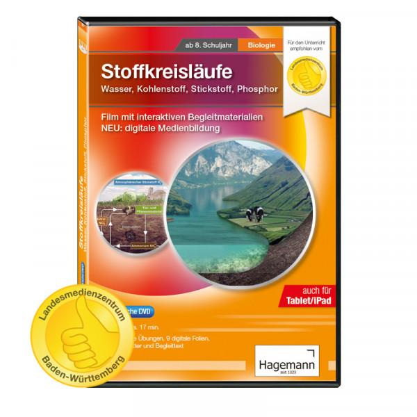 Didaktische DVD Stoffkreisläufe: Wasser, Kohlenstoff, Stickstoff, Phosphor (tabletfähig)