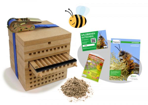 Hagemann Zuchtset Wildbienen (mit Kokon-Gutschein für 50 Kokons)