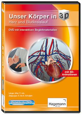 Didaktische DVD Unser Körper in 3D - Herz und Blutkreislauf