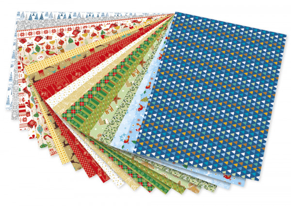 "Block Motivkarton ""Weihnachten"" 24x34 cm, 20 Blatt"