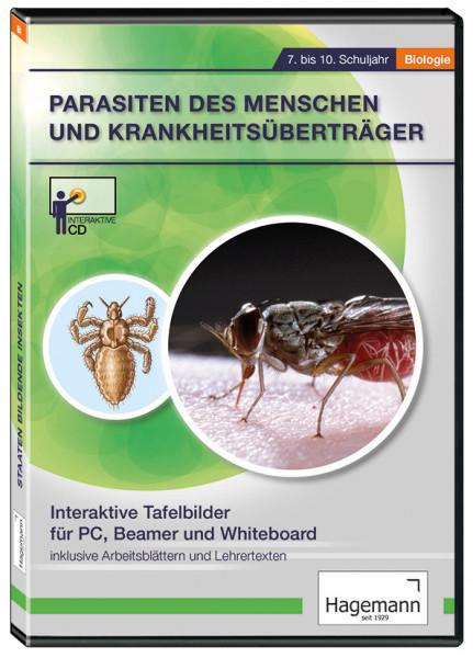 Interaktive Tafelbilder Parasiten des Menschen und Krankheitsüberträger
