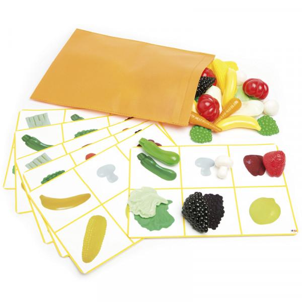 Tastspiel Früchte und Gemüse, 49-tlg.
