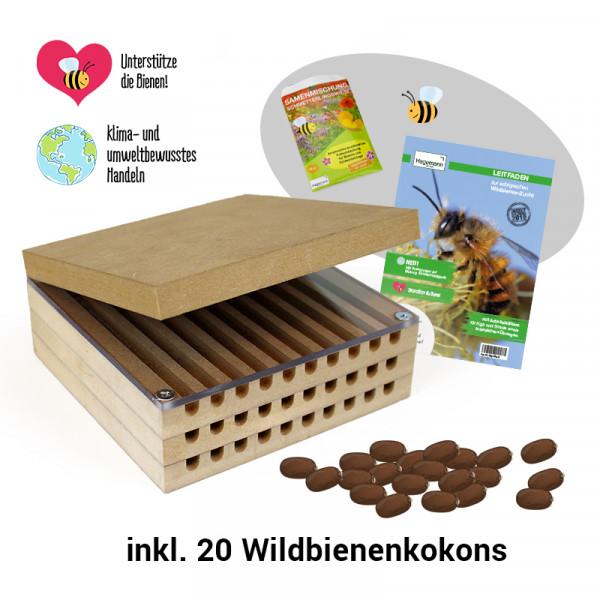 Hagemann Zuchtset Wildbienen, kompakt (mit Kokons)