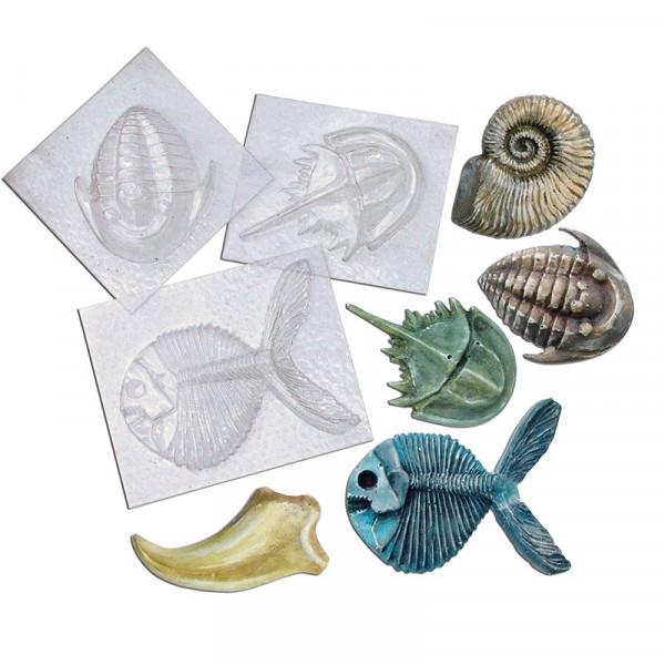 Fossilien-Gießform-Set (5 Stck.)