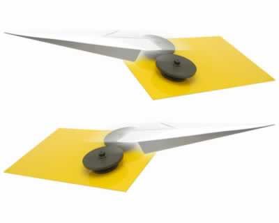 Papierflieger-Startrampe