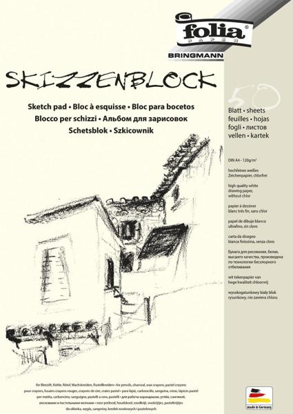 Skizzenblock DIN A4, 50 Blatt