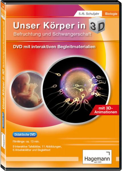 Didaktische DVD Unser Körper in 3D - Befruchtung und Schwangerschaft