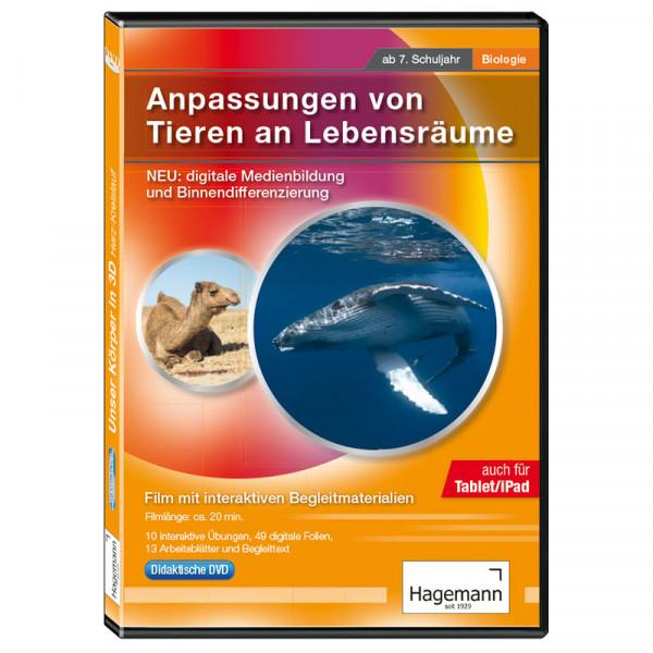 Didaktische DVD Anpassungen von Tieren an Lebensräume (tabletfähig ...
