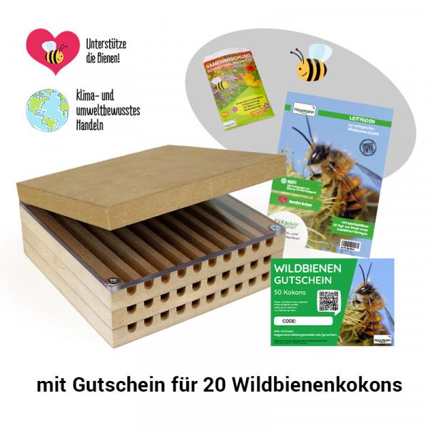 Hagemann Zuchtset Wildbienen, kompakt (mit Kokongutschein)