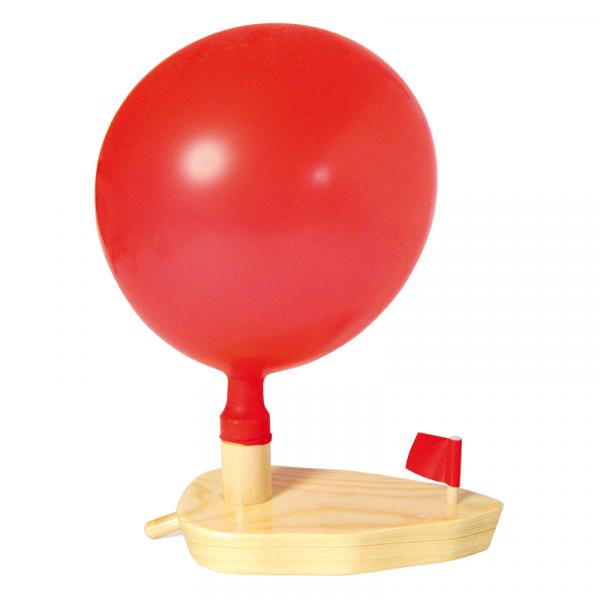 Luftballonboot aus Holz