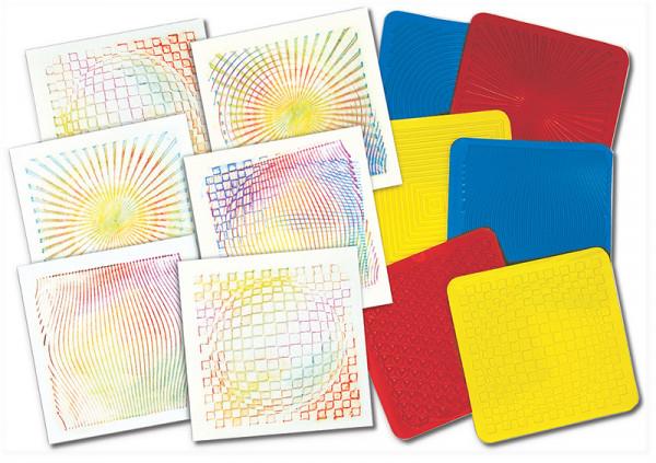 Rubbelplatten Optische Illusionen