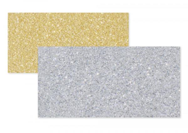Glitterkarton 50x70cm, 5 Bogen
