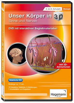 Didaktische DVD Unser Körper in 3D - Sinne und Nerven