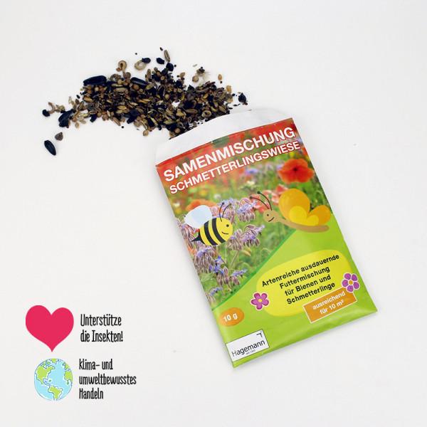 Hagemann Samenmischung - Schmetterlings- und Bienenwiese für 10m²