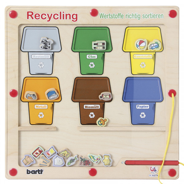 Recycling-Magnetspiel