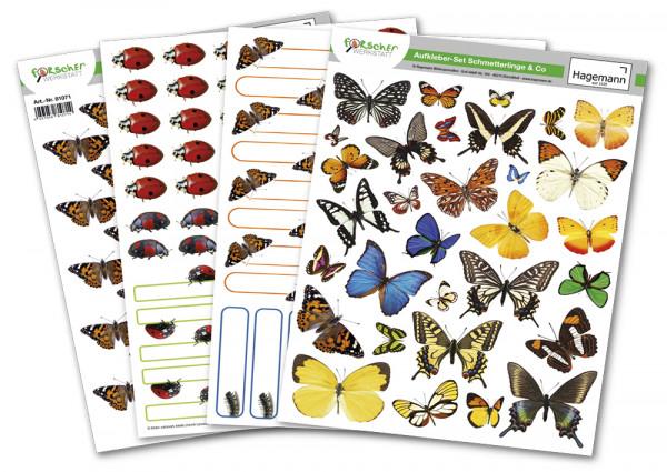 Hagemann Aufkleber-Set Schmetterlinge & Co.