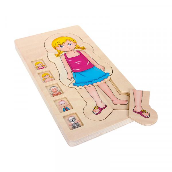 Körperschichten Puzzle Mädchen (28-tlg.)