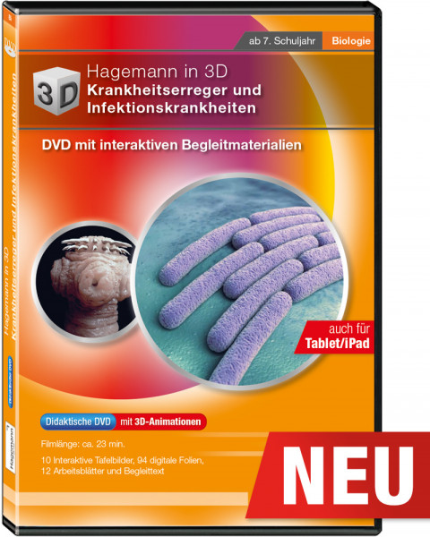 Didaktische DVD Hagemann in 3D Krankheitserreger und Infektionskrankheiten (tabletfähig)