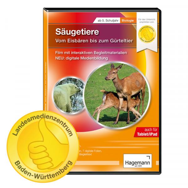 Didaktische DVD Säugetiere - Vom Eisbär bis zum Gürteltier (tabletfähig)