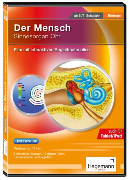 Didaktische DVD Der Mensch: Sinnesorgan Ohr (tabletfähig)